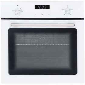 SIA SO103WH 60cm White Built In Single Electric True Fan Oven With Digital Timer