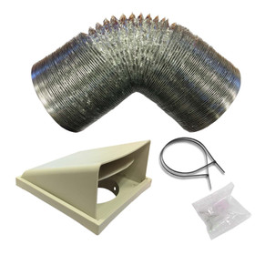 SIA D5 Universal Kitchen Cooker Hood Extractor Fan Ducting Vent Kit 150mm x 1m