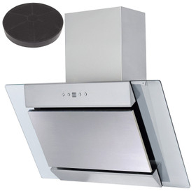 SIA AGL61SS 60cm Angled Stainless Steel Cooker Hood Extractor Fan And Filter