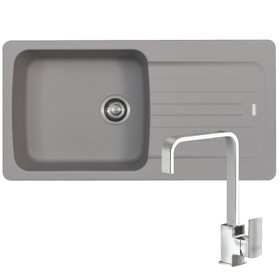 Franke Aveta 1.0 Bowl Stone Grey Tectonite Kitchen Sink And Reginox Astoria Tap