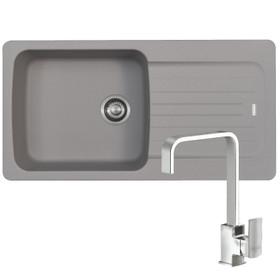 Franke Aveta 1.0 Bowl Stone Grey Tectonite Kitchen Sink And Reginox Astoria Tap