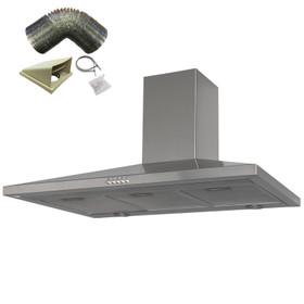 SIA CHL100SS 100cm Stainless Steel Chimney Cooker Hood Extractor And 1m Ducting