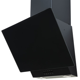 SIA EAG61BL 60cm Black Angled Glass Chimney Cooker Hood Kitchen Extractor Fan