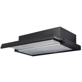 SIA TSH60BL 60cm Black Telescopic Integrated Cooker Hood Kitchen Extractor Fan