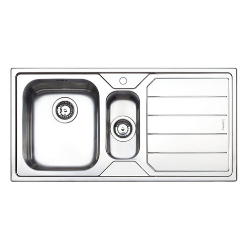 Clearwater Linear 1.5 Bowl Right Handed Brushed Stainless Steel Kitchen Sink