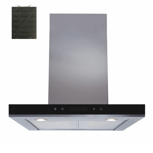 SIA 60cm Stainless Steel Linear Touch Control Cooker Hood Fan &Charcoal Filter