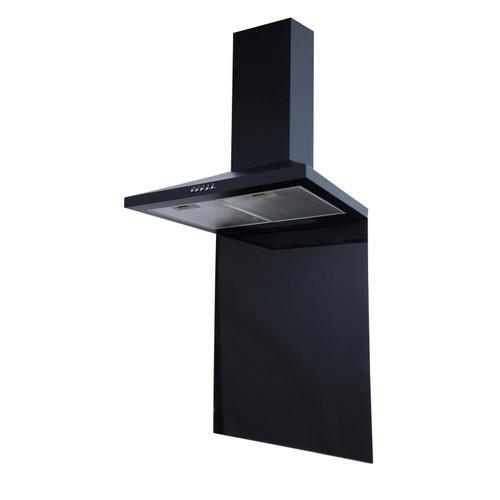 SIA SP60BL 60cm x 75cm Black Toughened Kitchen Glass Splashback