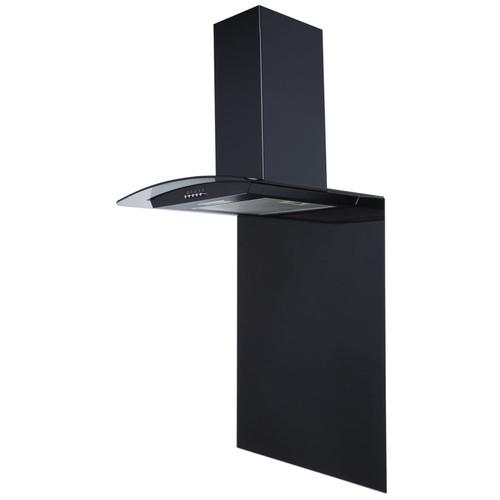 SIA SPC60BL 60cm x 75cm Black Toughened Curved Glass Kitchen Splashback