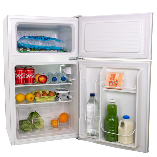 SIA UFF01WH 88L White Freestanding Under Counter 2 Door Fridge Freezer A+ Energy