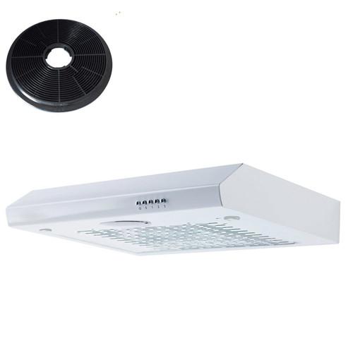SIA STH60WH 60cm White Slimline Visor Cooker Hood Kitchen Fan And Carbon Filter