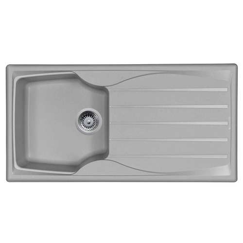 Astracast Sierra 1.0 Bowl Reversible Light Grey Kitchen Sink And Waste Kit
