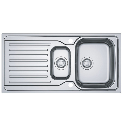 Franke Antea AZN 651 Stainless Steel Reversible 1.5 Bowl Kitchen Sink And Waste