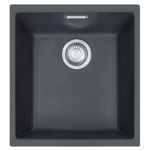 Franke SID 110-34 1.0 Bowl Black Tectonite Undermount Kitchen Sink And Waste Kit