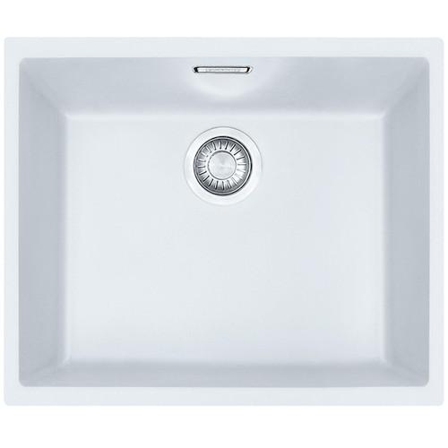 Franke SID 110-50 1.0 Bowl Polar White Tectonite Undermount Kitchen Sink & Waste