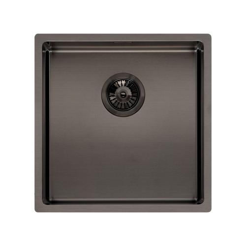 Reginox Miami 40x40cm Grey Single Bowl Stainless Steel Undermount Kitchen Sink