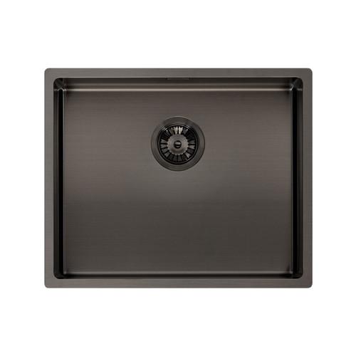 Reginox Miami 50x40cm Grey Single Bowl Undermount Stainless Steel Kitchen Sink