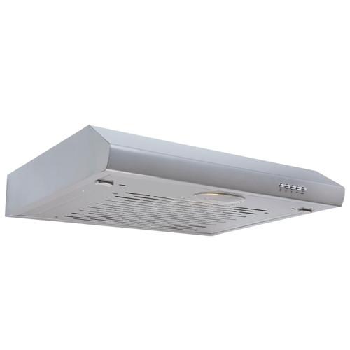 SIA STH60SI 60cm Silver Slimline Visor Cooker Hood Kitchen Extractor Fan