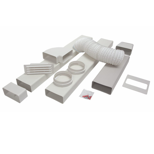 CDA AED54 Universal Kitchen Cooker Extractor Fan Rigid Ducting Kit 125mm x 3m