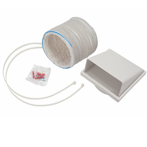 CDA AED61 Universal Kitchen Cooker Hood Extractor Fan Ducting Kit 150mm x 1m