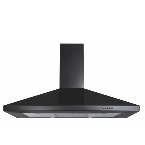 CDA ECH101BL 100cm Black 3 Speed Chimney Cooker Hood Kitchen Extractor Fan