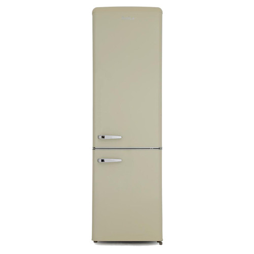 Amica FKR29653C 55cm Cream 60/40 Retro Style Freestanding Tall A+ Fridge Freezer
