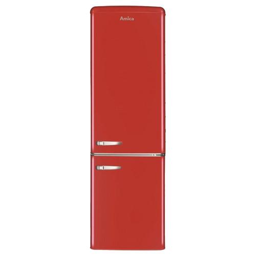 Amica FKR29653R 55cm Red 60/40 Retro Style Freestanding Tall Fridge Freezer
