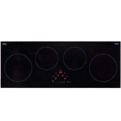 CDA HN9626FR 90cm Induction 4 Zone Linear Front Touch Control Black Glass Hob