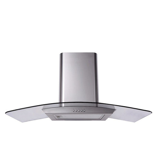 SIA CGH110SS 110cm Stainless Steel Curved Glass Cooker Hood Extractor Fan