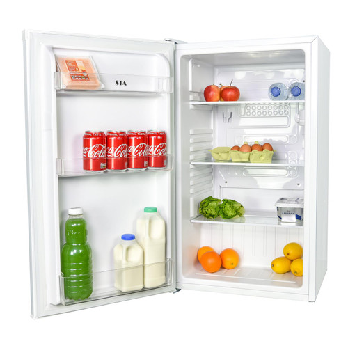 SIA LFS01WH 48cm White Freestanding 91L Under Counter Larder Fridge, A+ Rated