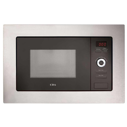 CDA VM550SS 17L 700W Slim Built-in Wall Unit Stainless Steel Microwave Oven