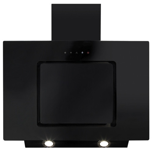 CDA EVA70BL 70cm Black Angled Glass Touch Control Cooker Hood Extractor Fan