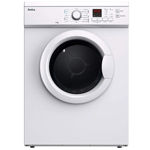 AMICA ADV7CLCW White 7kg 12 Programme Freestanding Digital Vented Tumble Dryer