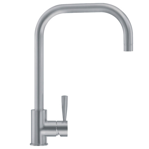 Franke Fuji U-Spout Silk Steel Single Lever Modern Monobloc Kitchen Mixer Tap