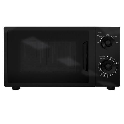 SIA MTM20BL 20L Freestanding Black Microwave Oven 5 Power Levels & Knob Controls