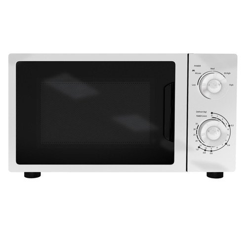 SIA MTM20WH 20L Freestanding White Microwave Oven 5 Power Levels & Knob Controls