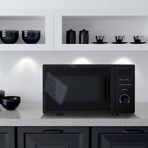 SIA DTM20BL 20L Freestanding Black Digital Control Microwave Oven 5 Power Levels