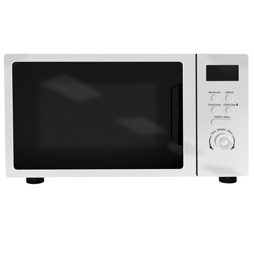 SIA DTM20WH 20L Freestanding White Digital Control Microwave Oven 5 Power Levels