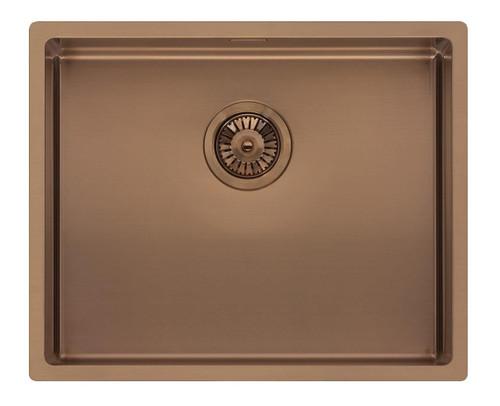 Reginox Miami 50x40cm Copper Single Bowl Stainless Steel Undermount Kitchen Sink