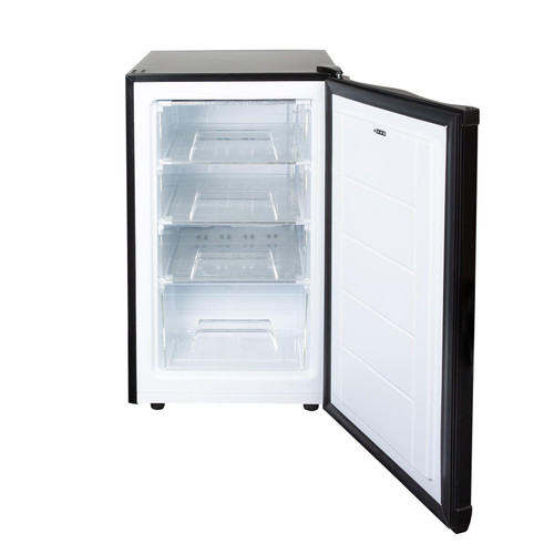 SIA UCF50BL 50cm Black Freestanding Under Counter Freezer 80L A+ Energy Rating