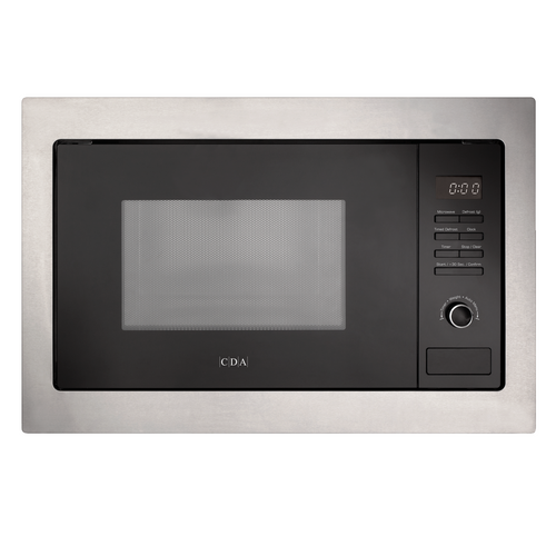 CDA VM131SS 25L Stainless Steel  & Black Integrated Built In 900W Microwave Oven