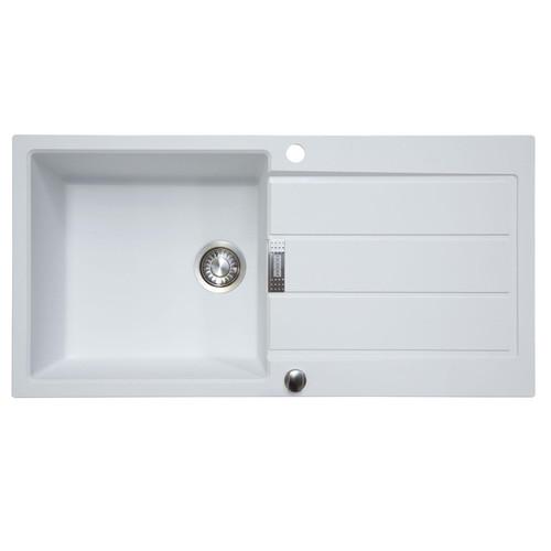 Franke Sirius S2D611PW 1.0 Bowl White Tectonite Reversible Kitchen Sink & Waste