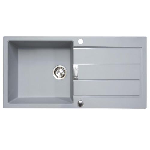 Franke Sirius S2D611TS 1.0 Bowl Titanium Silver Reversible Kitchen Sink & Waste