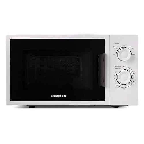 Montpellier MMW22WS White 700W 20L Microwave With Stainless Steel Interior