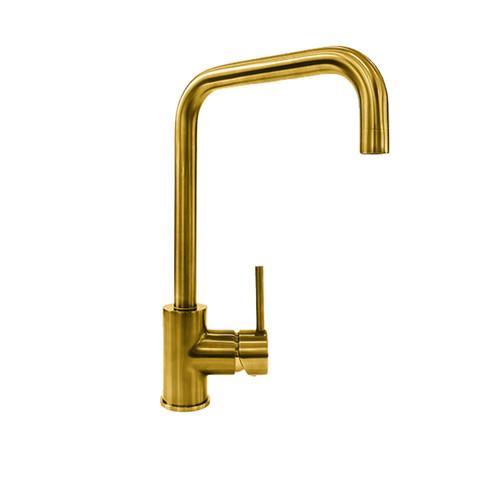 Reginox Acri Gold Single Lever U-Shaped Monobloc Kitchen Sink Swivel Mixer Tap