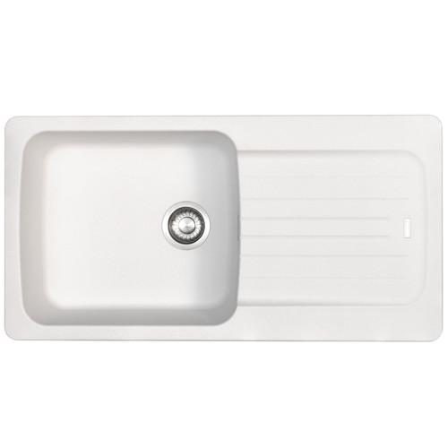 Franke Aveta 1.0 Bowl Ice White Tectonite Reversible Kitchen Sink And Waste Kit