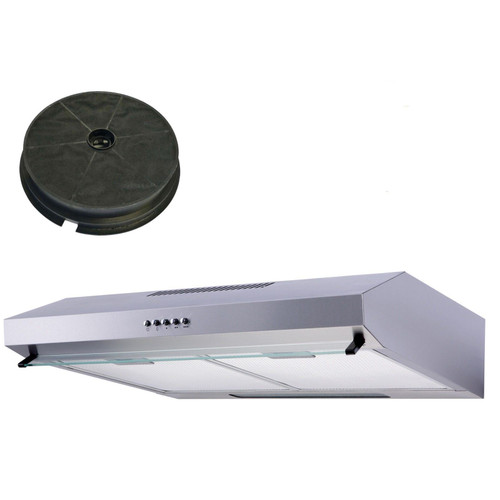 SIA VSR60SS 60cm Stainless Steel Visor Cooker Hood Extractor Fan &Carbon Filter
