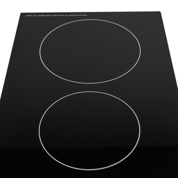 SIA CERH30BL 30cm 2 Burner Domino Ceramic Electric Hob In Black, Knob Control