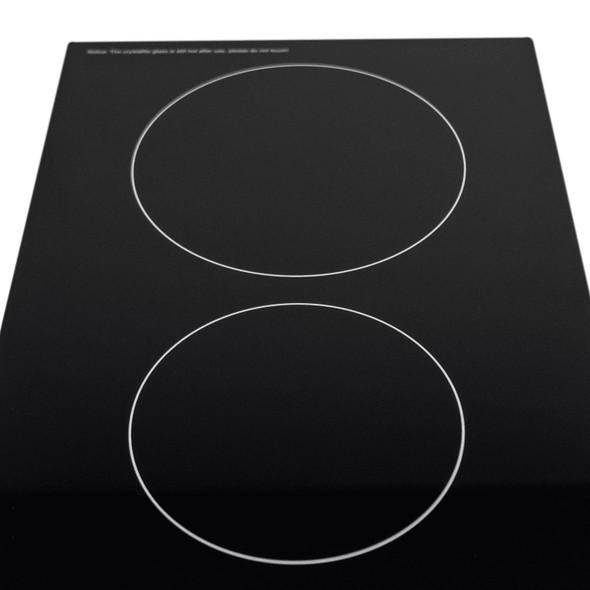 SIA CERH30BL 30cm 2 Burner Domino Ceramic Electric Hob In Black | Knob Controls