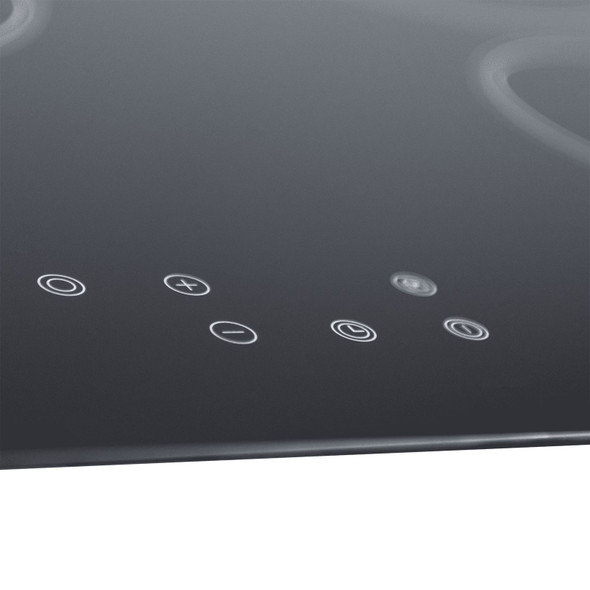 SIA CERH90BL 90cm Black 5 Zone Frameless Touch Control Electric Ceramic Hob
