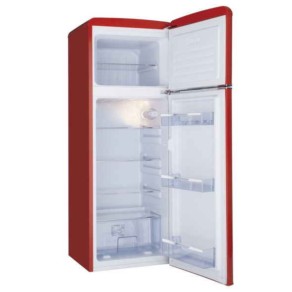 Amica FDR2213R 55cm Red Freestanding Tall Retro Style A+Rated Fridge Freezer